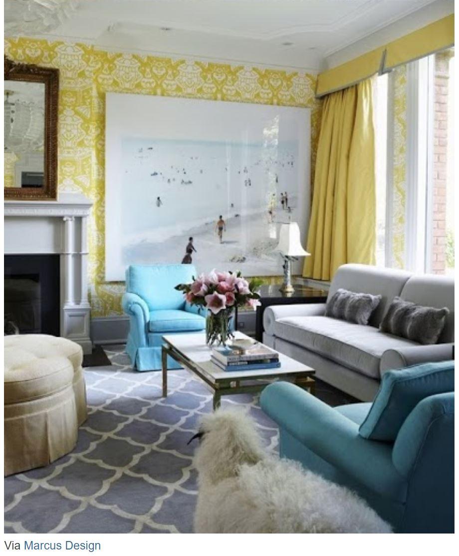 Colores para pintar ba os modernos for Decoracion de salas en gris y amarillo