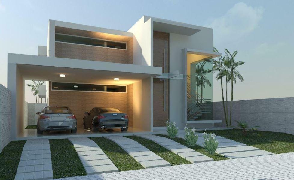 Fachadas anchas for Frentes de casas minimalistas