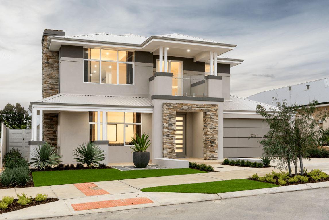 Fachadas con techos de chapa for Modelos de techos para casas de dos pisos