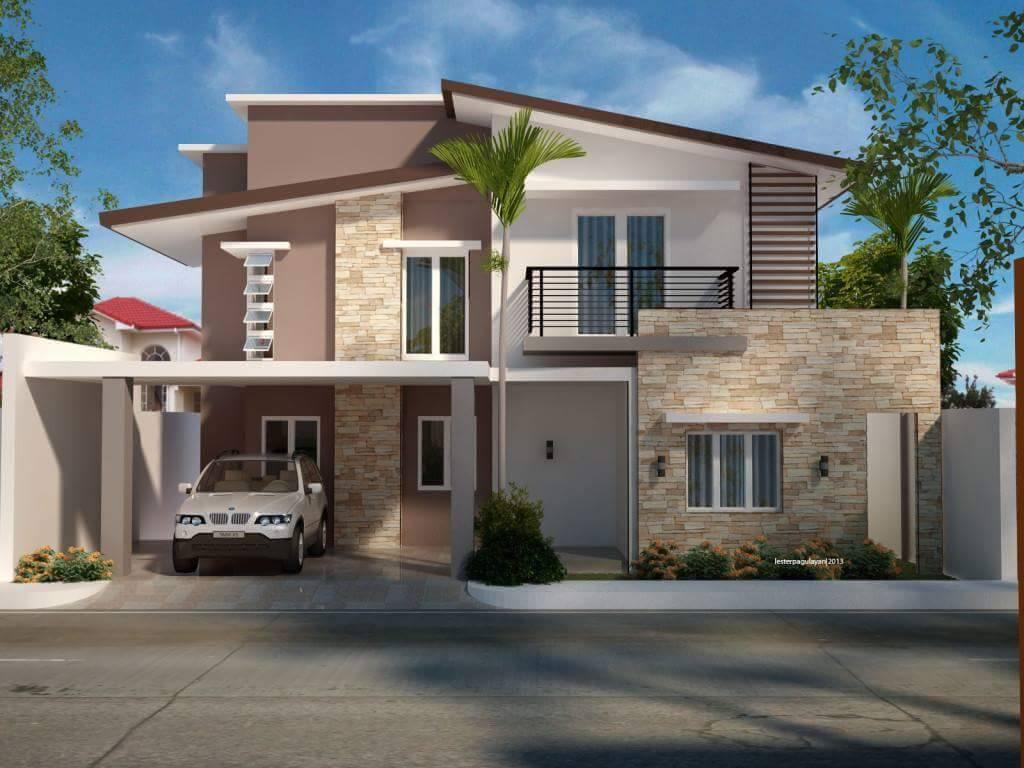 Fachada para casa de dos niveles for Fachadas para casas