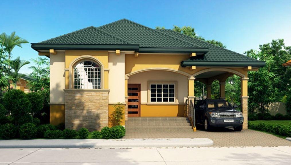 Fachadas de casas con teja verde
