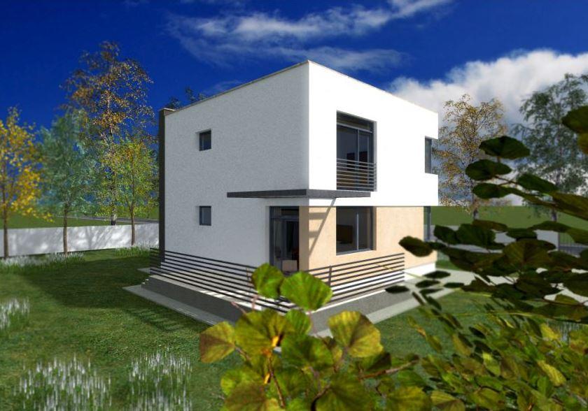 Fachadas rectas for Casa moderna 2017
