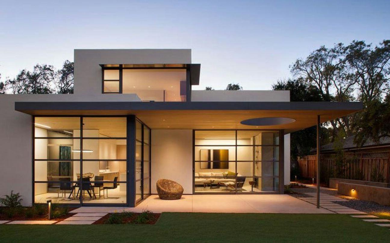 Fachada de modelos de casas modernas for Viviendas modernas