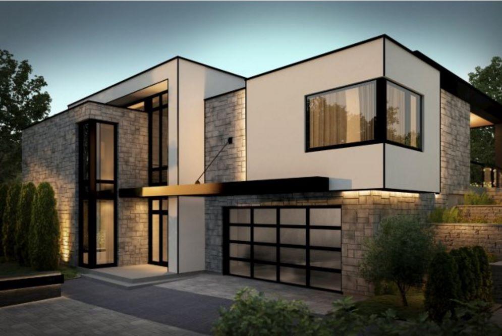 Fachadas de casas de 2 plantas muy modernas for Fachadas de casas minimalistas de 2 plantas