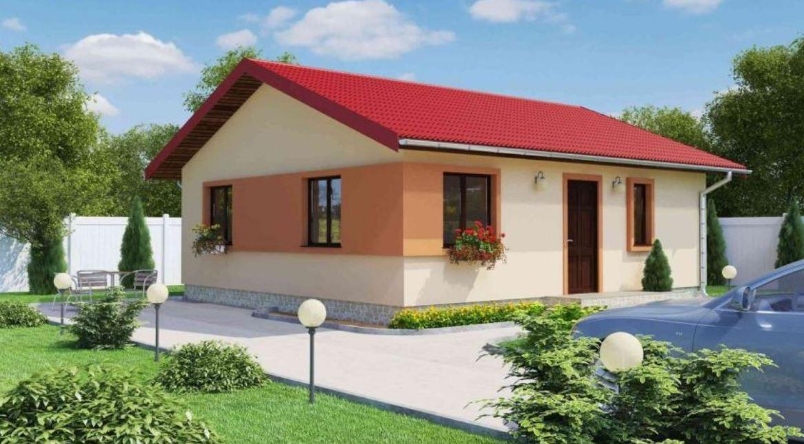 Fachadas de casas color durazno for Casas modernas pintadas