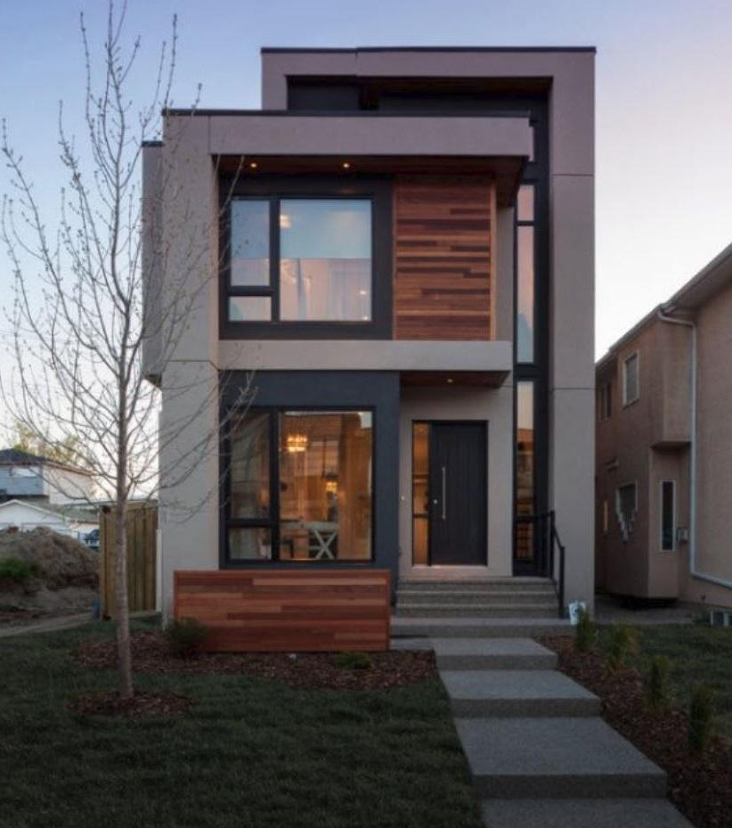 Fachadas de casas de dos pisos Casas modernas un piso