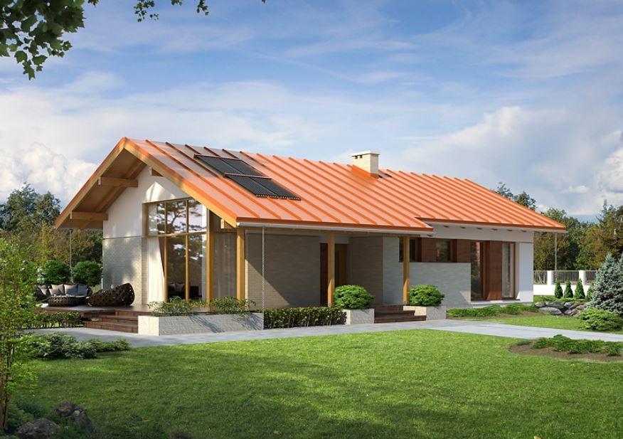 Fachadas con techos a 4 aguas for Casas de madera pequenas