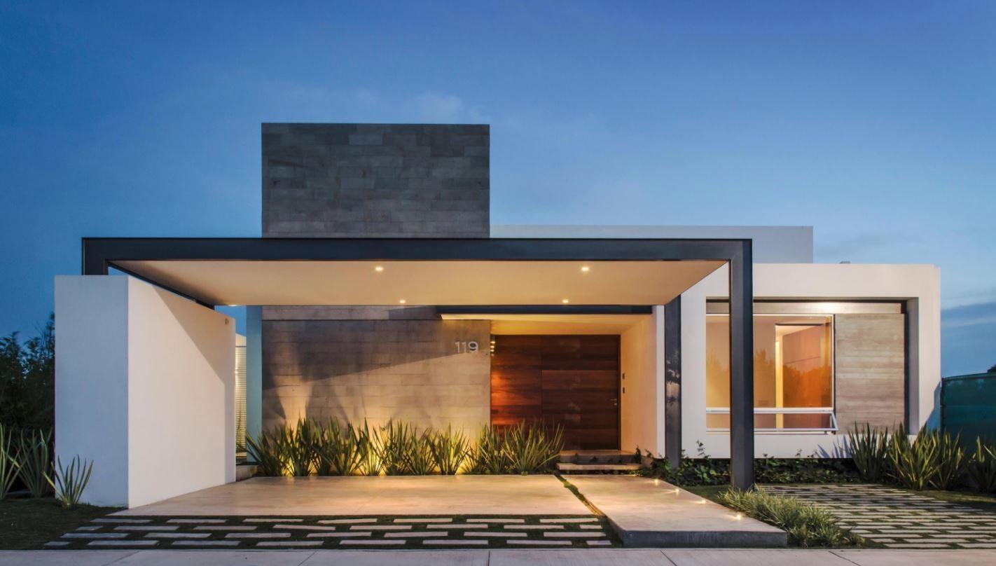 Colores para pintar una fachada - Fachadas exteriores de casas ...