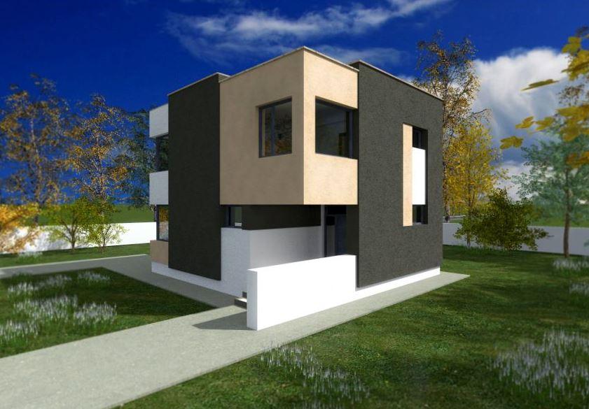 Fachadas rectas Fachadas para casas de dos plantas