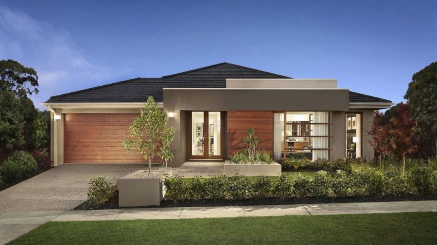 Fachadas de casas de 1 piso for Fachadas de jardines para casas