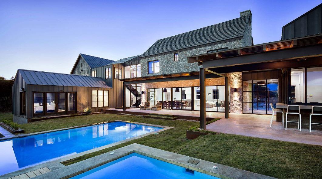 Fotos de casas modernas con piscina simple fotos de casas - Fotos de casas con piscina ...