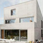10 Fachadas de casas con concreto aparente