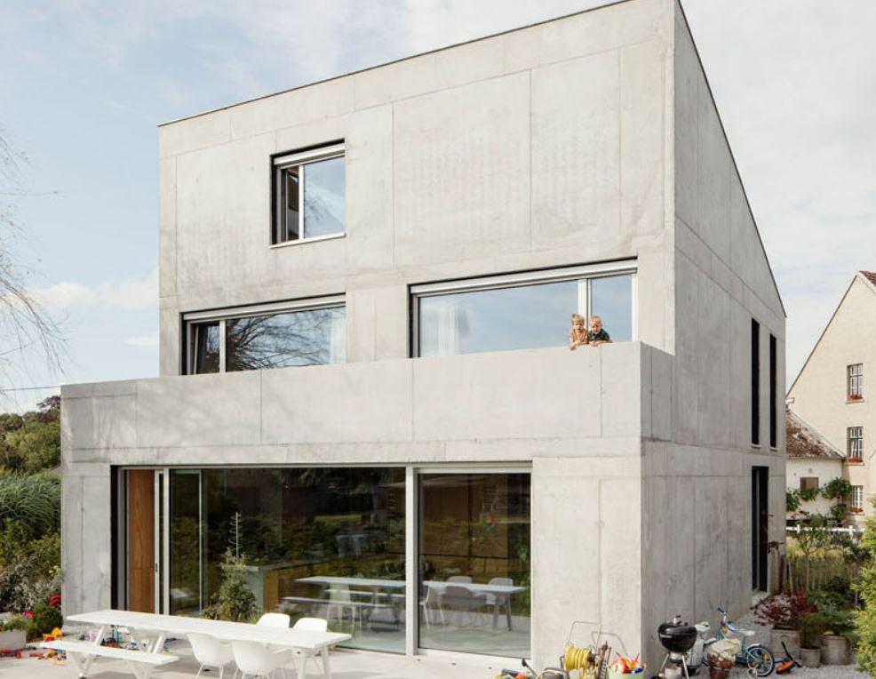 Fachada de concreto for Colores modernos para fachadas