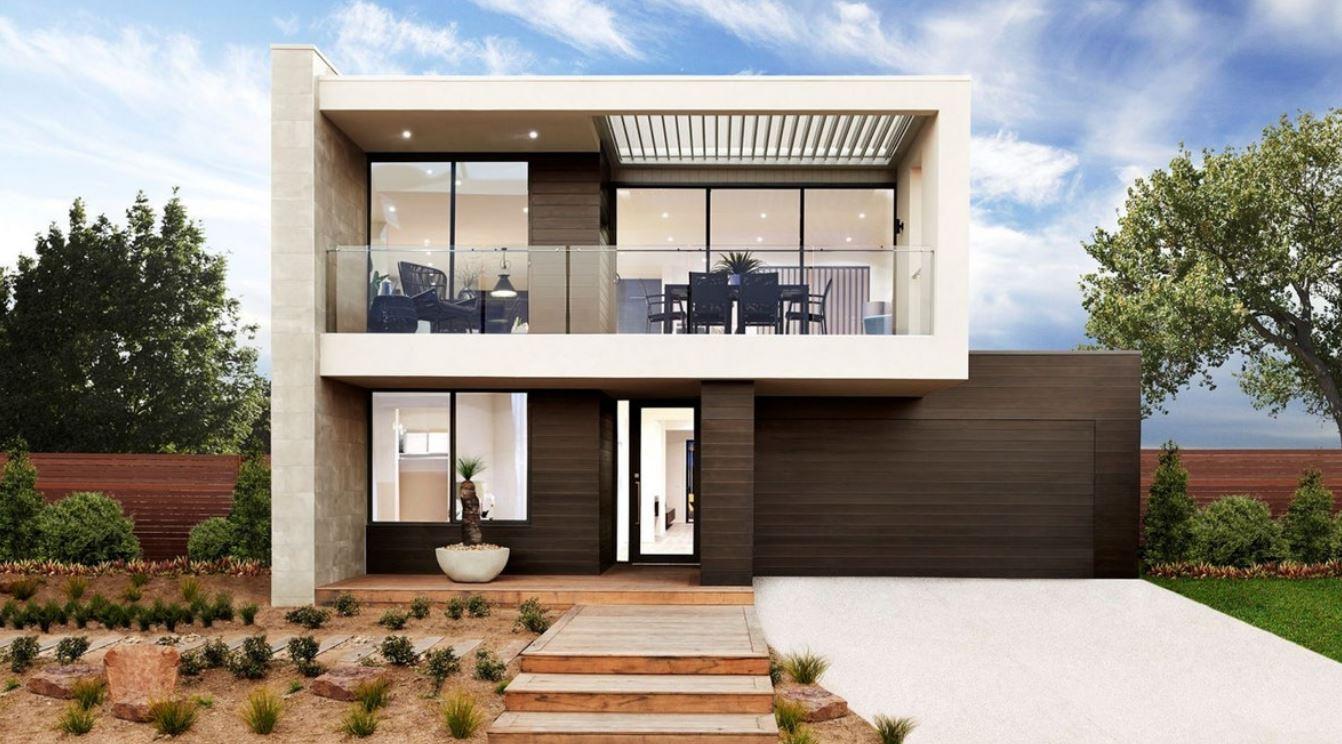 Fachadas con terraza - Terrazas de casas modernas ...