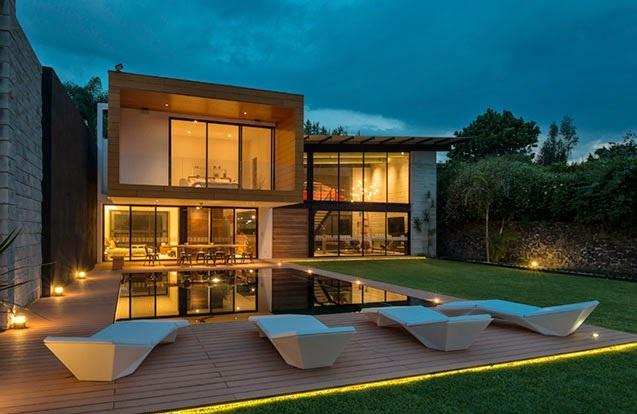 Fachadas de casas fachadas de casas modernas y bonitas for Fachada de casas modernas con vidrio