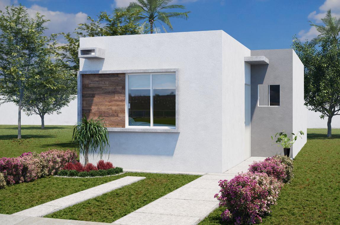 Casas modernas y sencillas de una planta for Casas chicas pero bonitas
