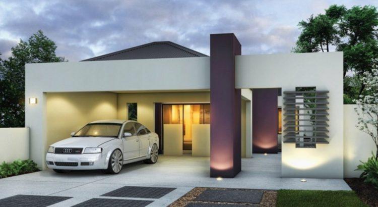 Fachadas de casas modernas for Fachadas de casas modernas de una planta
