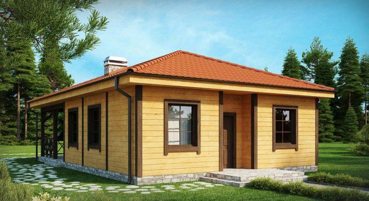 Fachadas con madera for Casas de madera pequenas