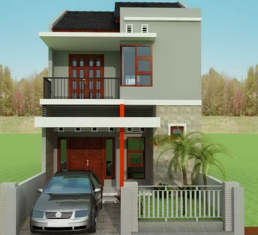 10 fachadas de casas con dos plantas sencillas for Fachadas minimalistas de casas pequenas