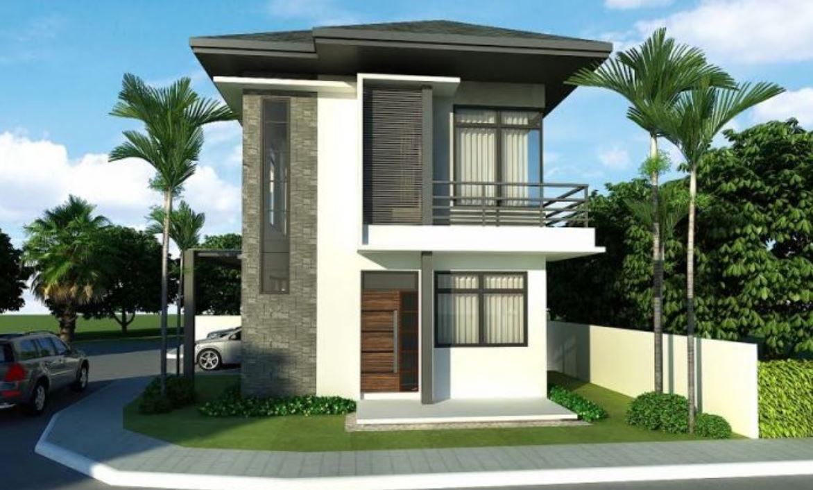 10 fachadas de casas con dos plantas sencillas for Modelos de casas minimalistas de dos plantas